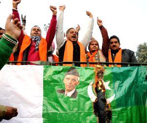 Shiv Sena Samajwadi protest against failed boat infiltration of Pakistan