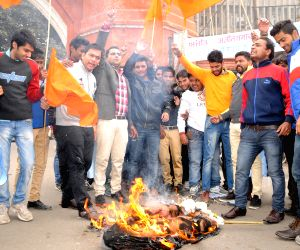 ABVP protest against Bikram Singh Majithia