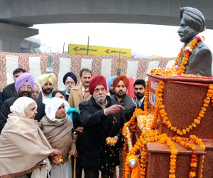 Inauguration of statue of martyr K R Singh Gill