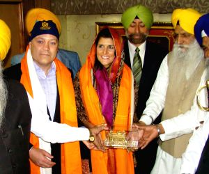 Nikki Haley  with her husband at Golden Temple