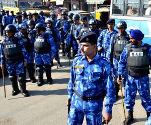 RAF conducts flag march in Amritsar