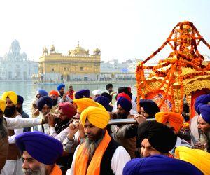 Religious procession to mark the martyrdom anniversary of Guru Teg Bahadur