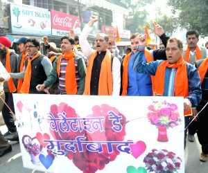 Protest against Valentine's Day celebration