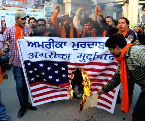 Protest against racial slur - Shiv Sena Samajwadi