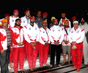 Canada men's Kabaddi team at Golden Temple