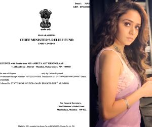 Amruta Khanvilkar donates 1 lakh in fight against COVID-19