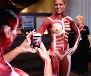 NETHERLANDS AMSTERDAM ART BODY PAINTING EXHIBITION