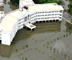 Chennai floods - aerial view