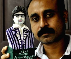 Soap figurine of Amitabh Bachchan