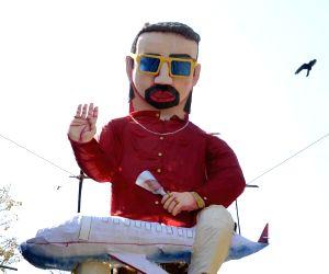 An effigy of liquor baron Vijay Mallya that will be burnt during 'Holika Dahan' in Worli of Mumbai on March 22, 2016.