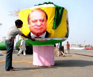 Hafiz Saeed, Nawaz Sharif effigies