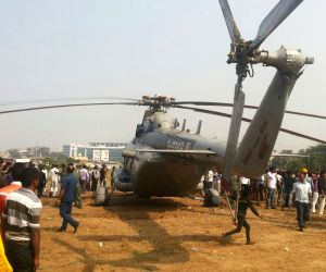 IAF helicopter makes emergency landing in a Mumbai ground