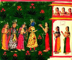 Spirituality gave way to sensuality in Rajasthani miniature paintings'