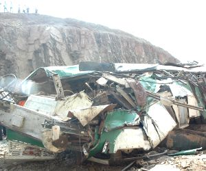 14 killed, 40 injured in Andhra bus accident
