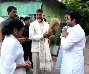 Chandrababu Naidu meets Mamata Banerjee