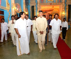 N. Chandrababu Naidu visited Puttaparthi Sai Baba Samadhi