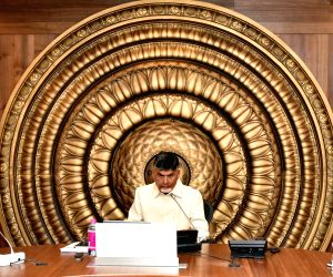 Vijayawada (Andhra Pradesh): Chandrababu Naidu at secretariat