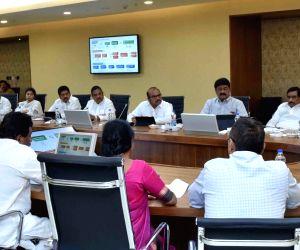 Chandrababu Naidu during a cabinet meeting