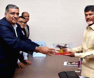 N. Chandrababu Naidu meets CSIR DG Girish Sahni