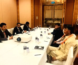 Singapore : N. Chandrababu Naidu at World Cities Summit Mayors Forum