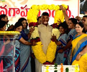 N. Chandrababu Naidu during an interactive session with Anganwadi workers