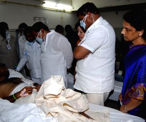 Andhra Pradesh Chief Minister visited the injured at Care hospital