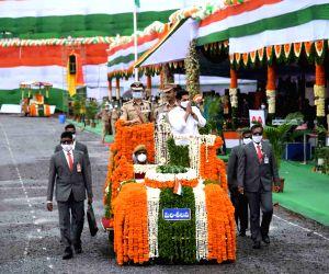 74th Independence Day celebrations at Indira Gandhi Municipal Corporation Stadium