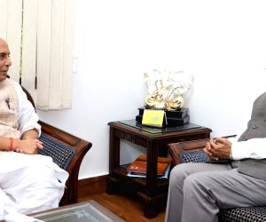E.S.L. Narasimhan meets Rajnath Singh