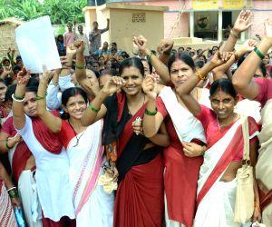 Anganwari workers' demonstration