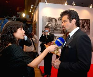 Anil Kapoor meets Belgium Royalty at Orra Fashion Showcase at Grand Hyatt, Mumbai.