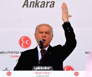 TURKEY-ANKARA-ELECTIONS-DEVLET BAHCELI-CAMPAIGN