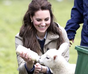 BRITAIN ARLINGHAM DUCHESS OF CAMBRIDGE CHARITY FARM VISIT