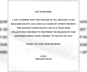 Free Photo: Armaan Malik postpones song release as mark of respect for Sushant
