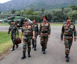 Army chief General Bipin Rawat arrives in Kashmir Valley to review security scenario on June 23, 2018.