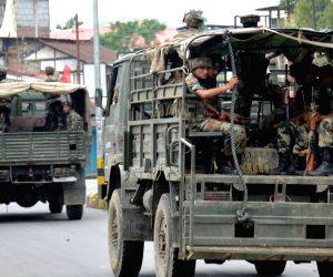 Army conducts flag march in Assam's troubled district