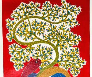 Artist Venkat Singh Shyam's work on the world of flora, fauna