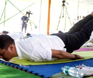Fourth International Yoga Day celebrations - Pema Khandu