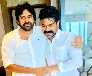 "As Jana Sena President and popular actor Pawan Kalyan turned 48 on Monday, his nephew and actor Ram Charan wished his ""Babai"", whom he called his ""mentor and guide"", on his ..."