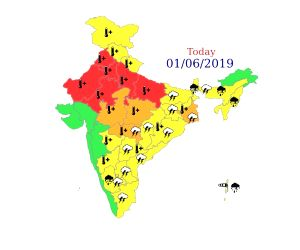 """As the minimum temperature touched 27.6 degrees Celsius on Saturday in the Delhi-NCR region, the India Meteorological Department (IMD) has issued the highest """"red"""" alert for some parts of ..."""