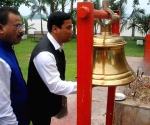 Assam CM at Hanuman Temple