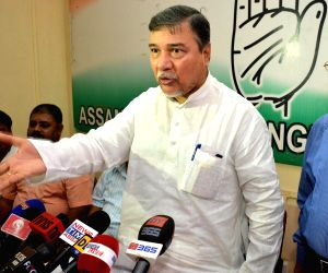 Bhubaneswar Kalita addressing a press conference