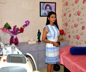 Aimee Baruah at the inauguration of a clinic