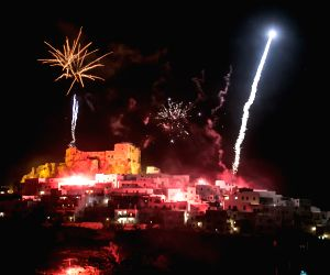 GREECE ASTYPALAIA EASTER CELEBRATION FIREWORKS
