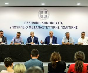 GREECE ATHENS MIGRATION MINISTER PRESS CONFERENCE
