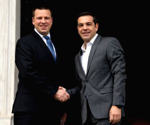 GREECE ATHENS ESTONIA PM VISIT