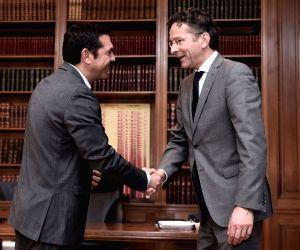 GREECE ATHENS GREEK PM EUROGROUP PRESIDENT MEETING