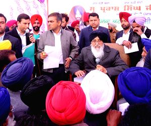 Punjab CM interacts with people in Attari
