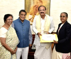 Attorney General,SC judge and Chief Justice of Bombay HC meet Venkaiah Naidu