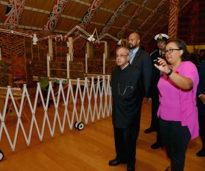 Auckland (New Zealand): President Mukherjee visits Auckland War Memorial Museum