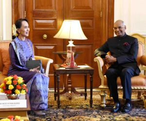 Aung San Suu Kyi, called on President Ram Nath Kovind